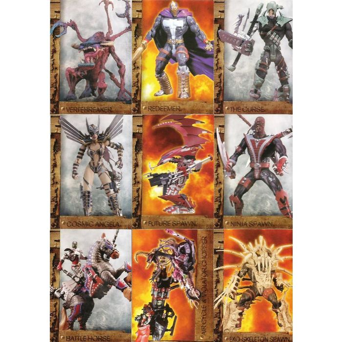 Inkworks Spawn The Toy Files Complete 90 Card Base Set