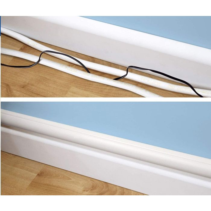 D Line 30x15 White Self Adhesive Trunking Tv Cable Hide Wire Price Per Meter On Ebid United Kingdom 194334781