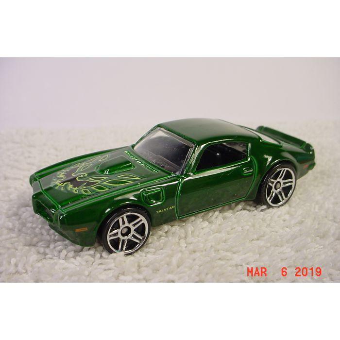 1973 Pontiac Firebird Trans Am 455 Green Met 1 64 16 2012 Hot Wheels On Ebid United States 178632795