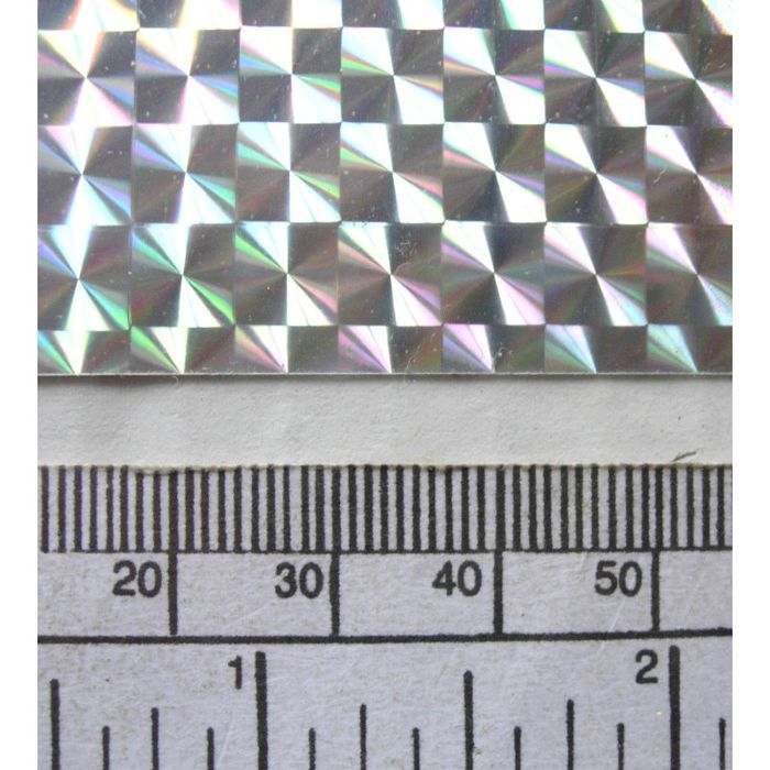 sign vinyl A4 sheet metallic - mosaic effect silver 297 x 210 mm