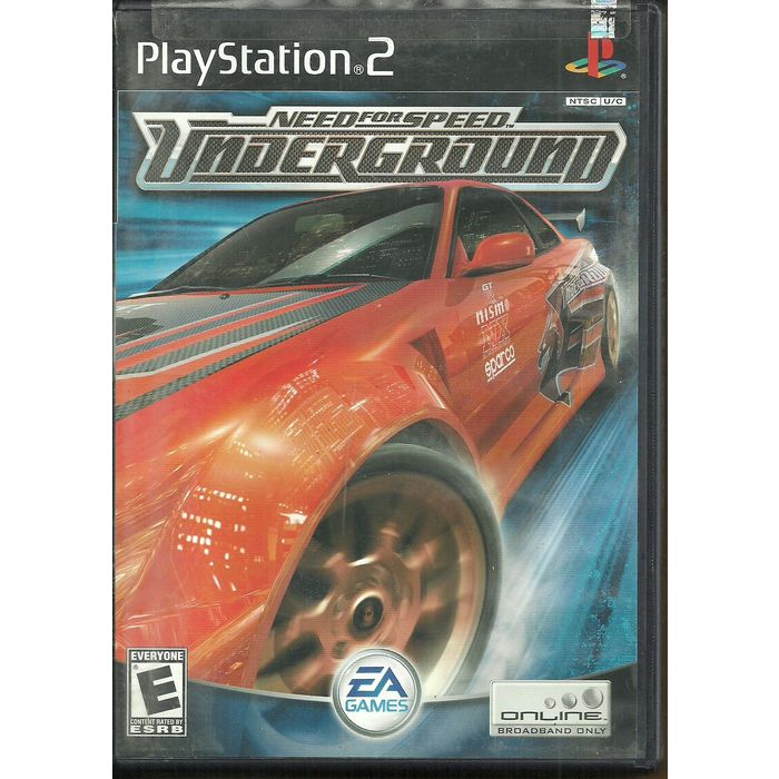 Need For Speed Underground Playstation 2 Game Ps2 Dvd Ps 2