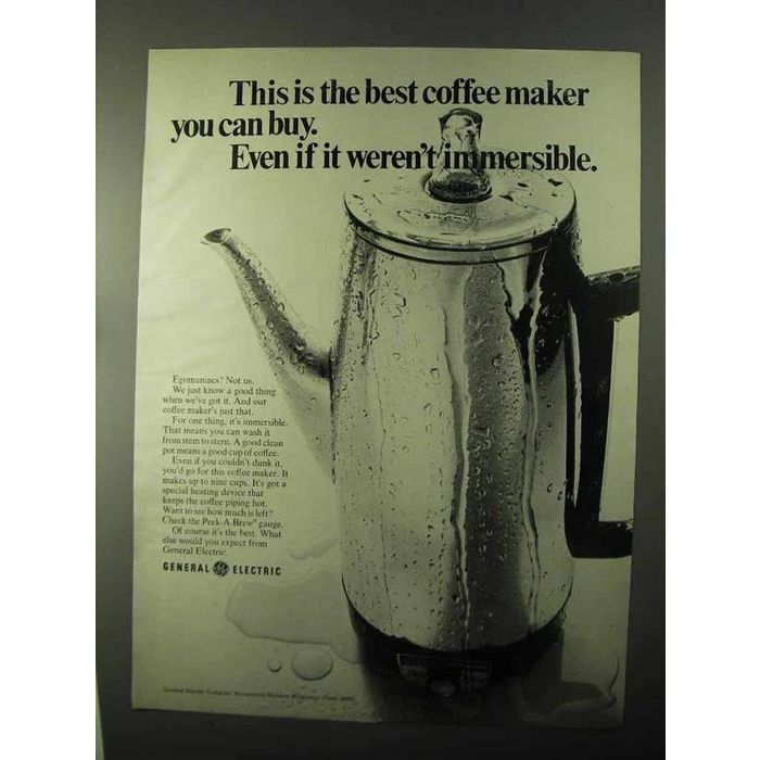 1971 General Electric Coffee Maker Ad Immersible On Ebid New Zealand 159229079