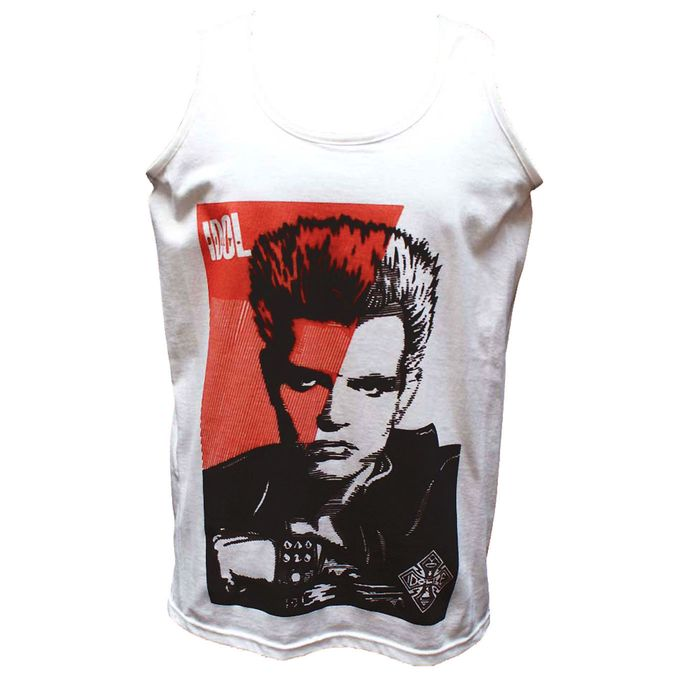 Details about  /Billy Idol Leather Vest Black /& White Photo Adult T Shirt Punk Rock Music Merch