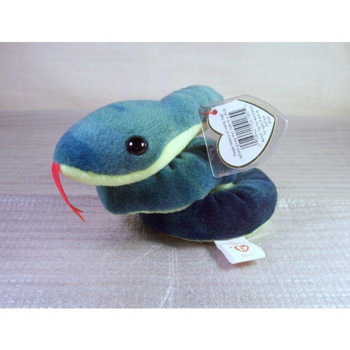 Mint w// Tag PVC Pellets 1997 Ty Beanie Babies Hissy the Snake