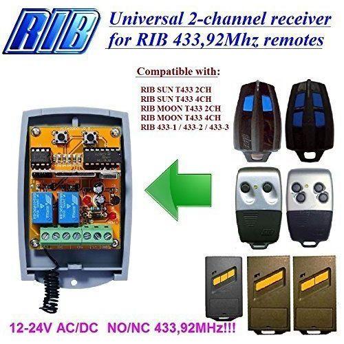 Nice Apollo SMILO SM2 433.92MH Remote Control 2-channel Transmitter Rolling Code