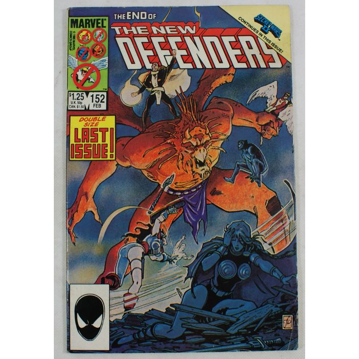 The New Defenders 152 Marvel Comics February 1986 Vol 1 comic book Final Issue