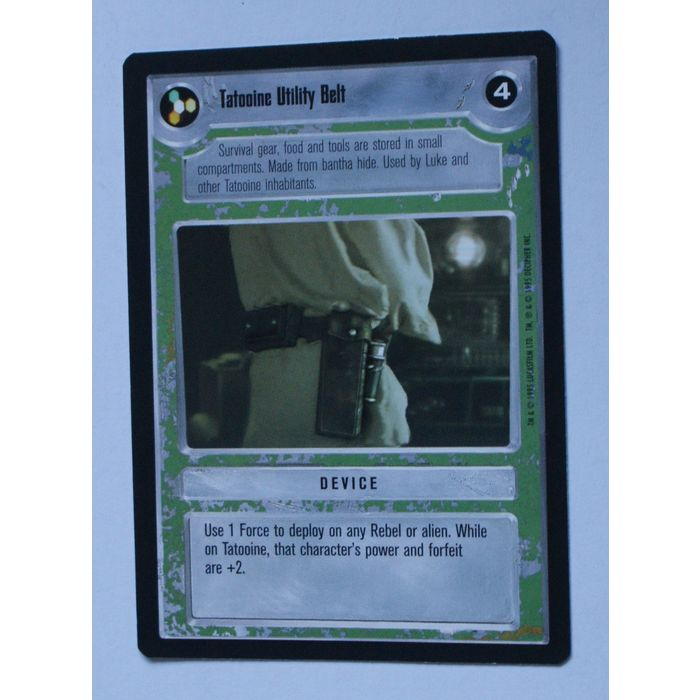 Tatooine Jundland Wastes Star Wars Premiere Unlimited 1995 DS Common CCG Card