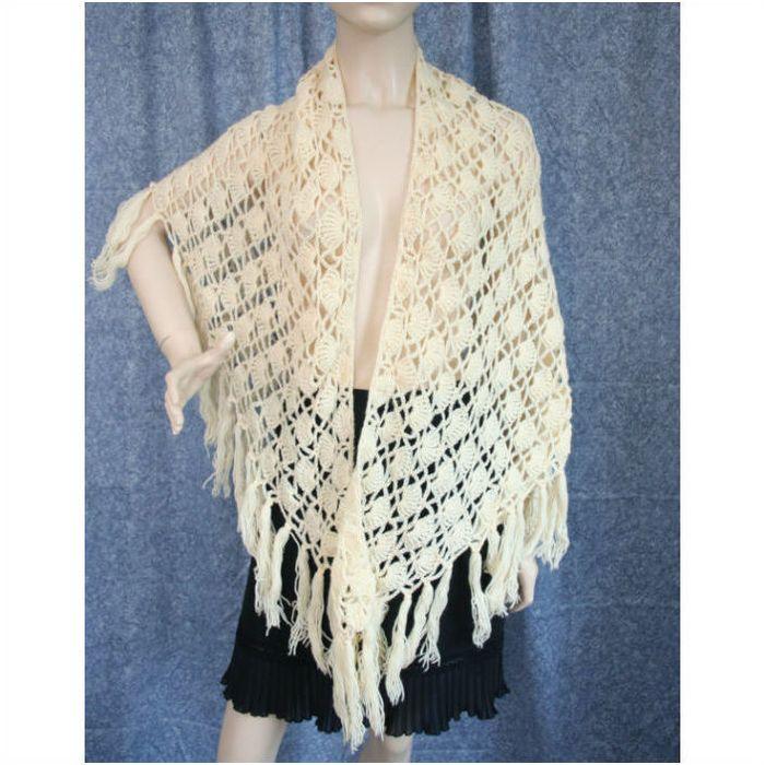 Crocheted Vintage ShawlCape