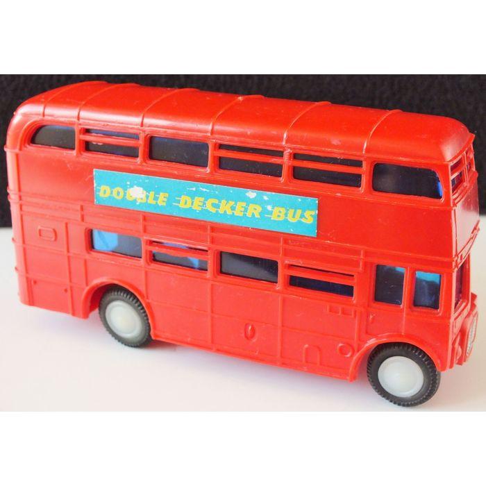 Plastic Friction Double Decker Bus No.454P Vintage Salco Hong Kong