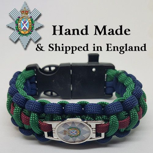 Kings Regiment Badged Paracord Survival Bracelet Tactical Edge