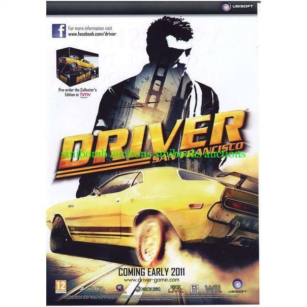 Driver San Francisco Ps3 Xbox 360 Original Magazine Advert 9994