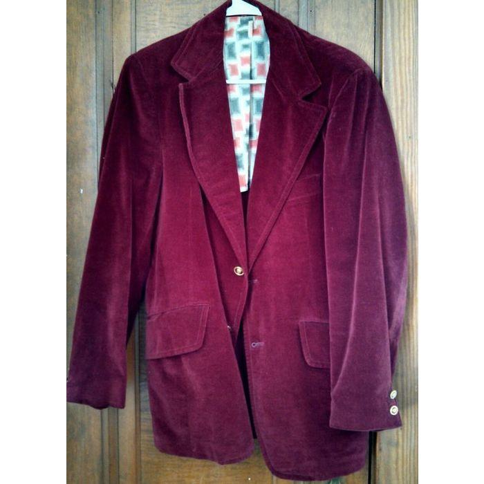 Retro Mod Burgundy Velour 70s Vintage Handmade Mens Formal Dinner Evening Jacket On Ebid United States 156653004