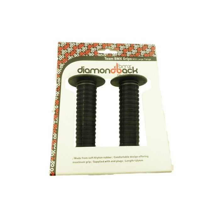 DIAMONDBACK BMX MUSHROOM TEAM GRIPS LARGE FLANGE DBX043 BRAND NEW PAIR