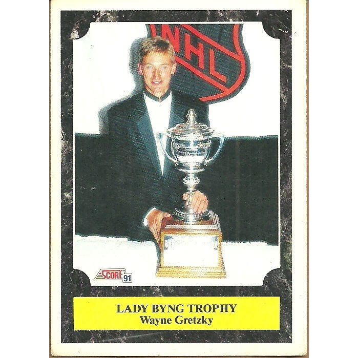 Score 1991 Nhl Hockey Trading Card 324 Wayne Gretzky Lady Byng Trophy Kings On Ebid Canada 128569681