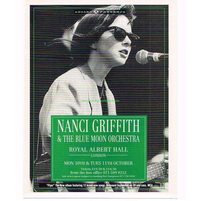 Nanci Griffith & The Blue Moon Orchestra Royal Albert Hall Magazine Advert  49682 on eBid United Kingdom | 139725431