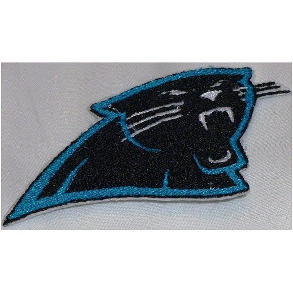 Carolina Panthers Logo Left Facing Embroidered Iron On Patch.