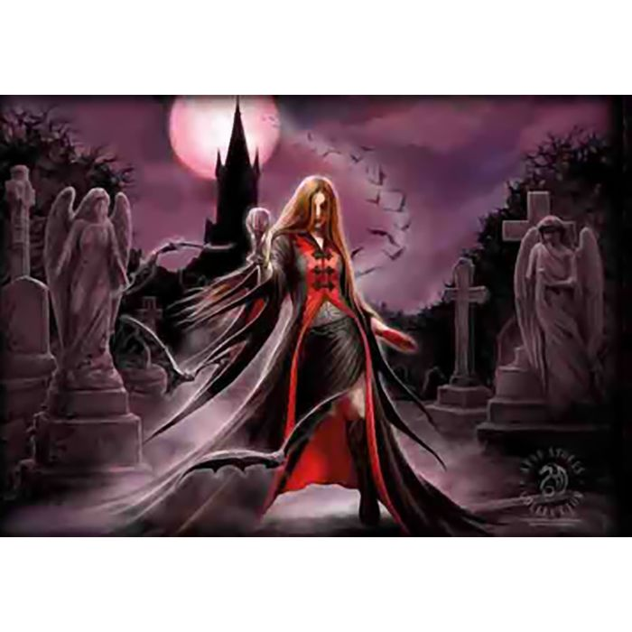 """ANNE STOKES Flag// Tapestry// Fabric Poster  /""""Blood Moon/""""     NEW"""