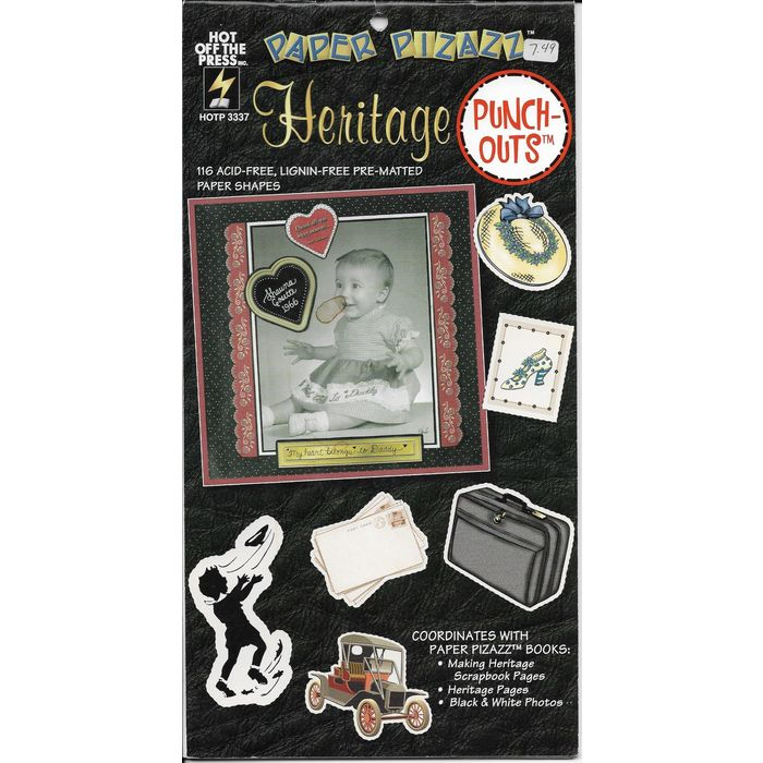 Paper Pizazz Punch Outs Heritage Craft Book 11 Pages Hotp 3337 Acid Lignin Free On Ebid United States 166102359