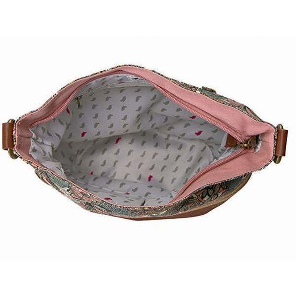 NWT Sakroots Soft Bucket Crossbody Shoulder Bag Sienna Spirit Desert SHIP INTL