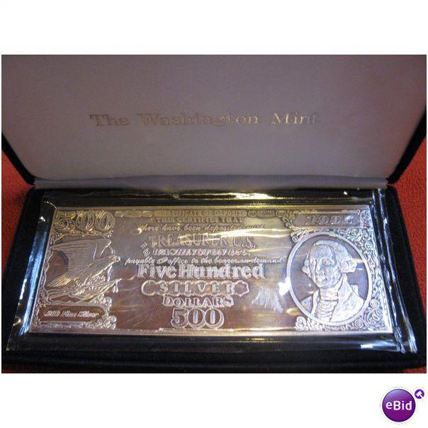 1995 8oz 500 Five Hundred Silver