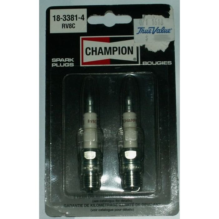 New Champion Spark Plug QTY 2 NOS