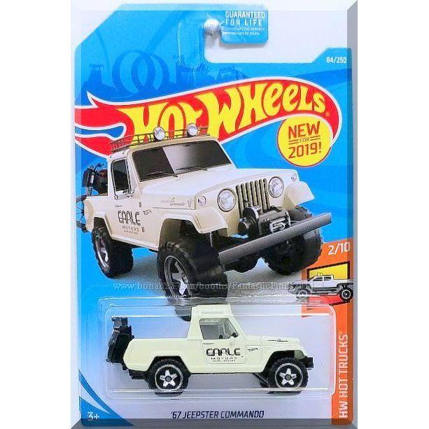 2019 Hot Wheels /'67 Jeepster Commando #84//250 White HW Hot Trucks