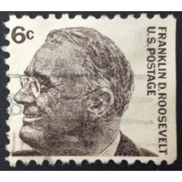 Us Stamp 1284b Used 1967 6c Franklin D Roosevelt Booklet Single Right 1 On Ebid United States 141307521