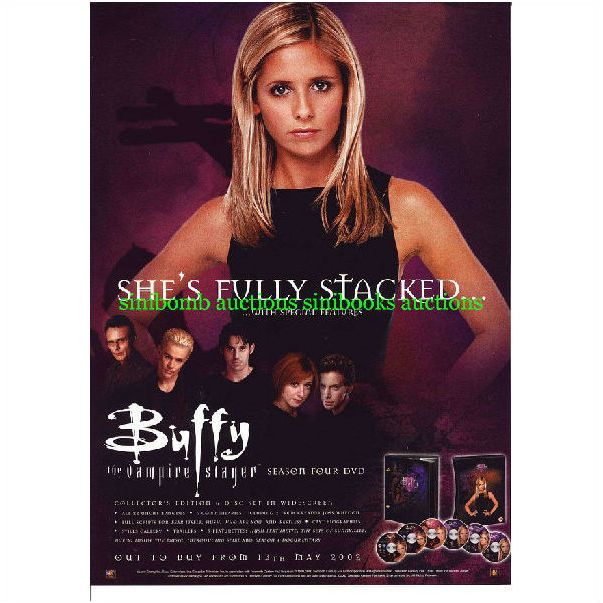 Buffy The Vampire Slayer Season 4 Four Original Magazine Advert 14754 on  eBid Ireland   119572495
