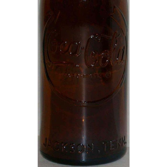 Vintage soda pop bottle COCA COLA Jackson Tennessee 75th aniv 1980 unused nrmt+