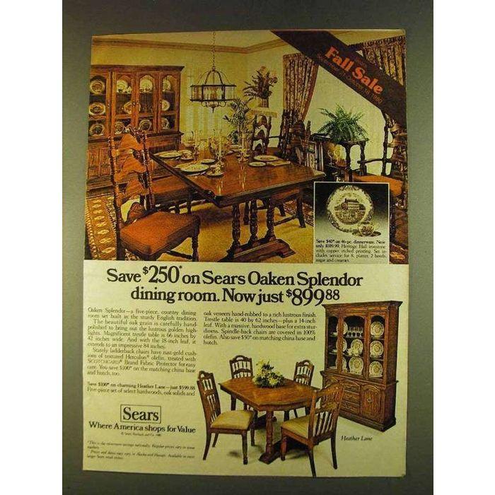 Sears Oaken Splendor Dining Room Set Ad