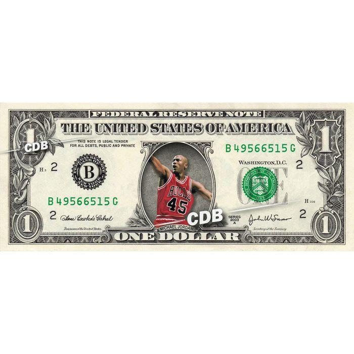 Michael Jordan On Real Dollar Bill Cash