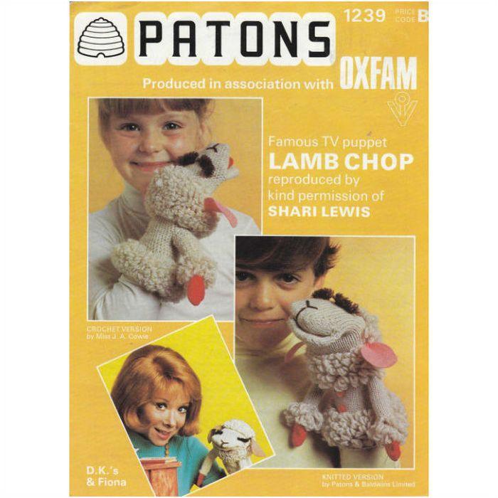 1239 Patons Knitting Pattern - Lamb Chop Puppet DK - Shari ...