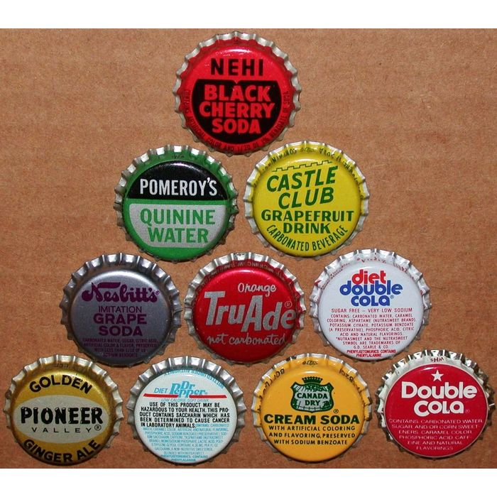 Vintage soda pop bottle caps SUN RISE Collection of 8 different new old stock
