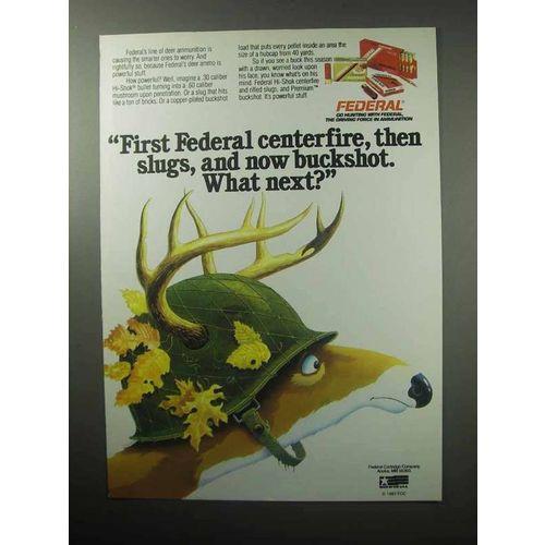 1987 Federal Ammunition Ad - Centerfire Slugs Buckshot