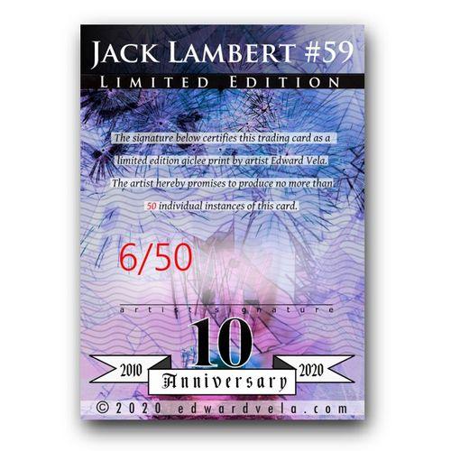 jack lambert 59 sketch card limited 4950 edward vela