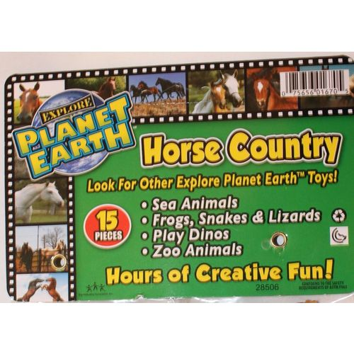 Great for Stocking Stuffers Horse Country Plastic Play Toy Horses Planet Earth