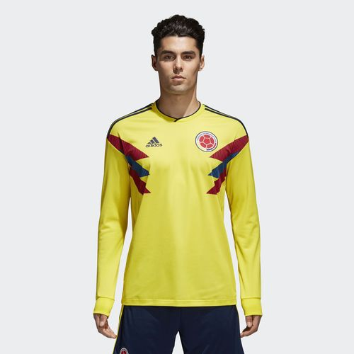 ADIDAS COLOMBIA LONG SLEEVE HOME JERSEY WORLD CUP 2018.