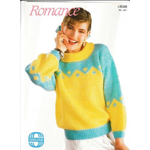 Knitting Pattern -Sirdar 8028 - Lady's/Teens 'Romance ...