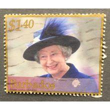 Barbados 2002 The Queen's Golden Jubilee SG 1205 $1 40c Queen in a purple hat