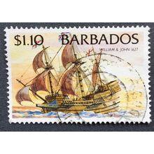 Barbados 1996 Ships SG 1086 $1 10c William and John , Imprint date 1996