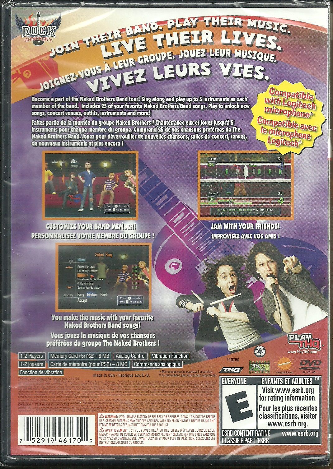 The Naked Brothers Band : The Video Game [PlayStation 2