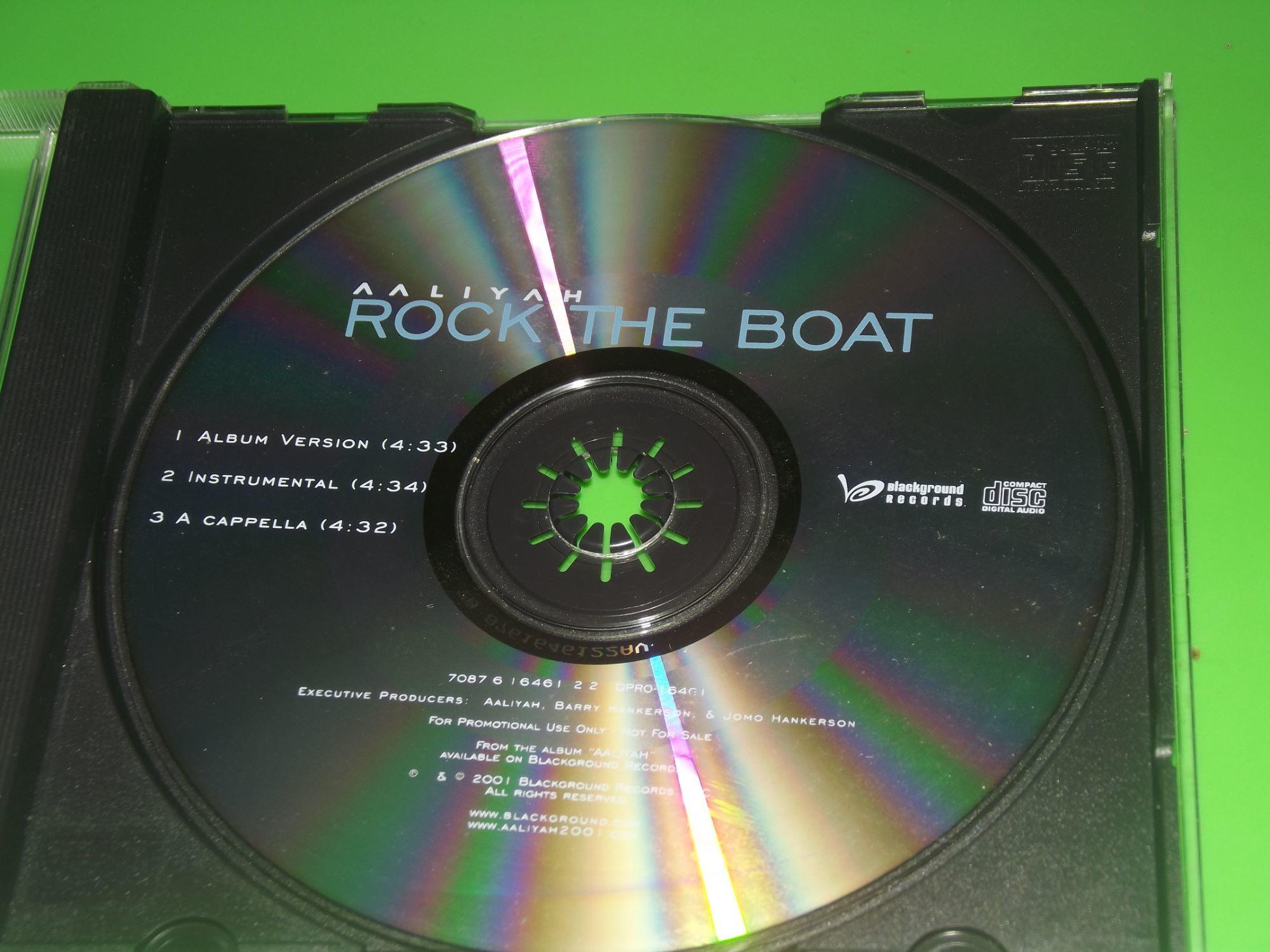 AALIYAH ROCK THE BOAT PROMO RARE CD SINGLE 3 TRACK. on ...