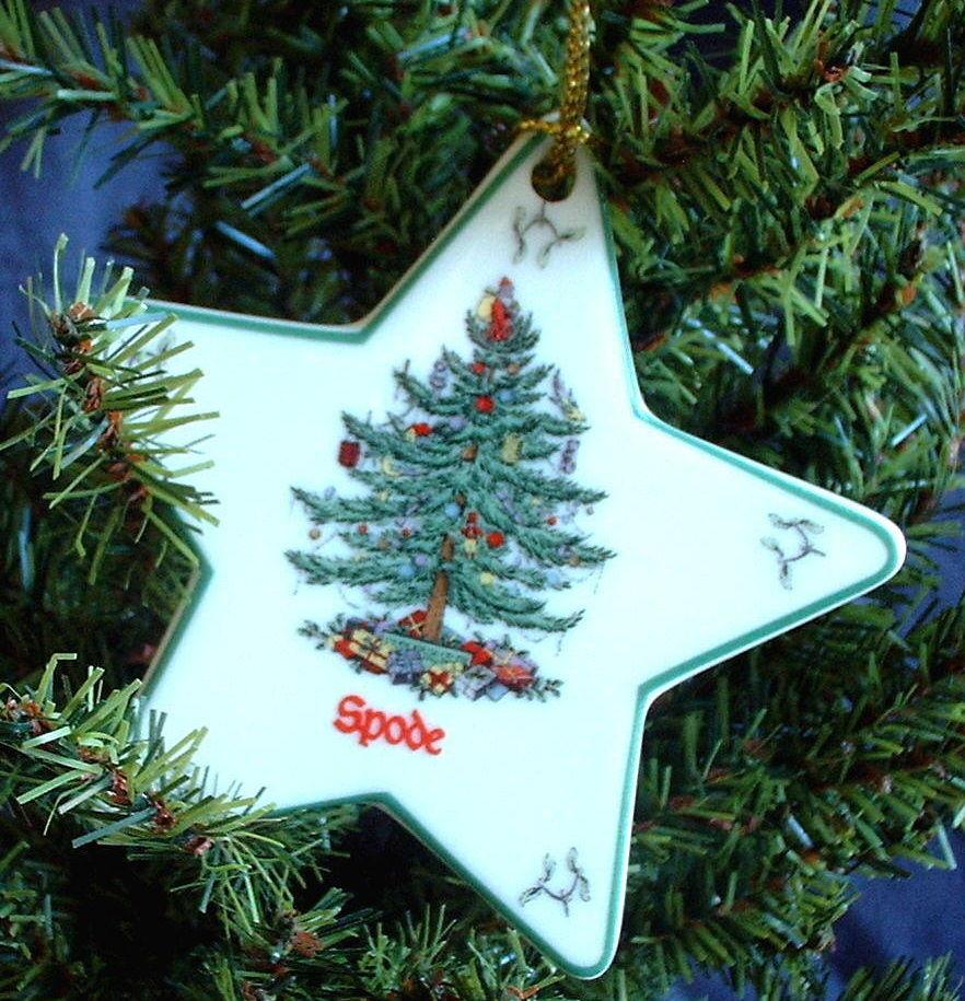Spode Christmas Tree Sale: New In Original Box, Spode Christmas Tree Ornament, STAR