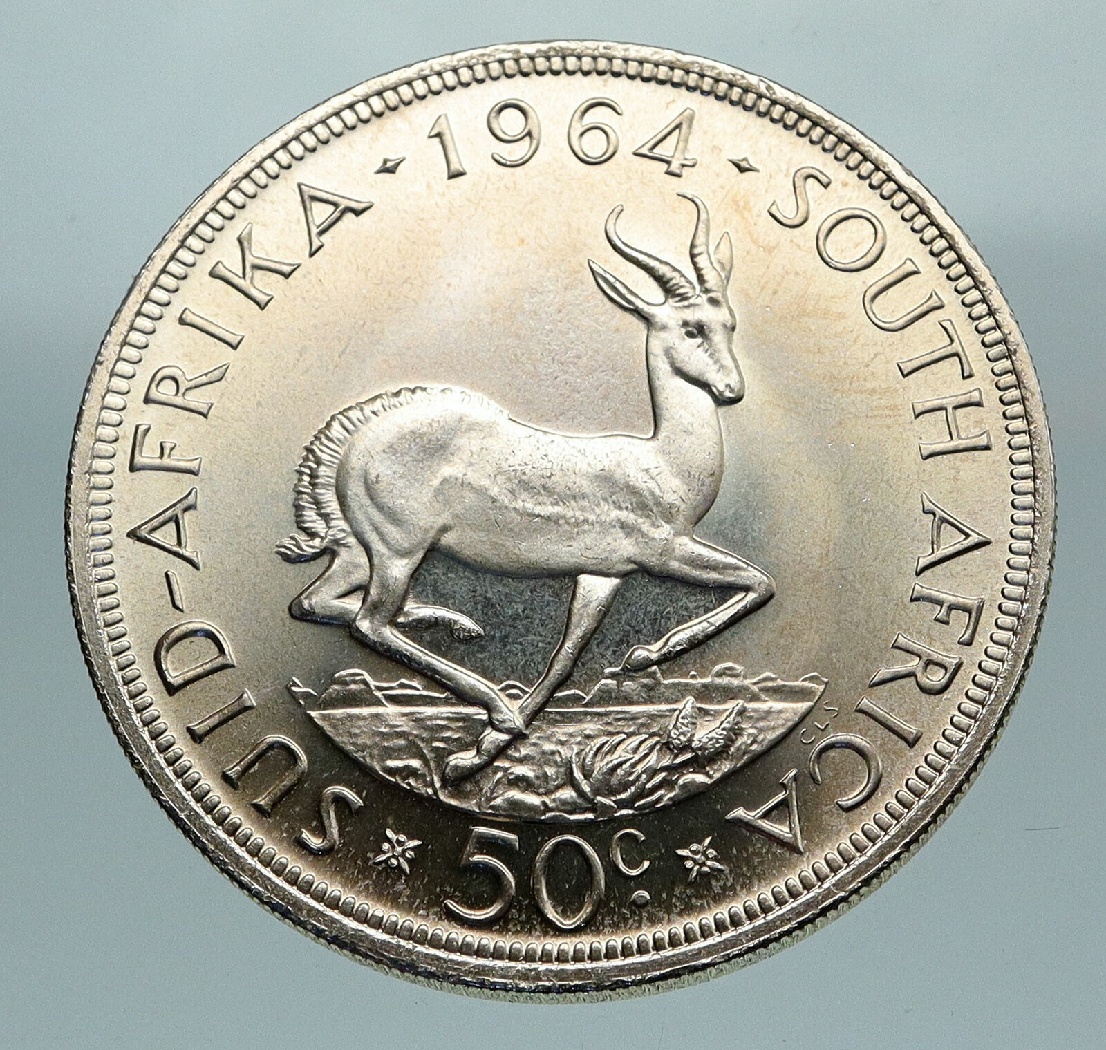 old south african 50 cent coin value